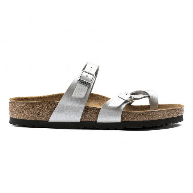 18cd446bf29a Birkenstock MAYARI 1009608 Ladies Cross Strap Sandals Silver