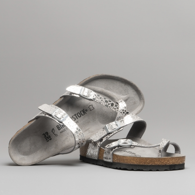 0c420ff1b Birkenstock MAYARI 1011908 Metallic Stones Silver Grey | Shuperb
