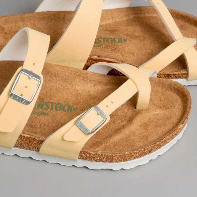 MAYARI 1016636 (Reg) Ladies Birko Flor Cross Strap Sandals Vanilla