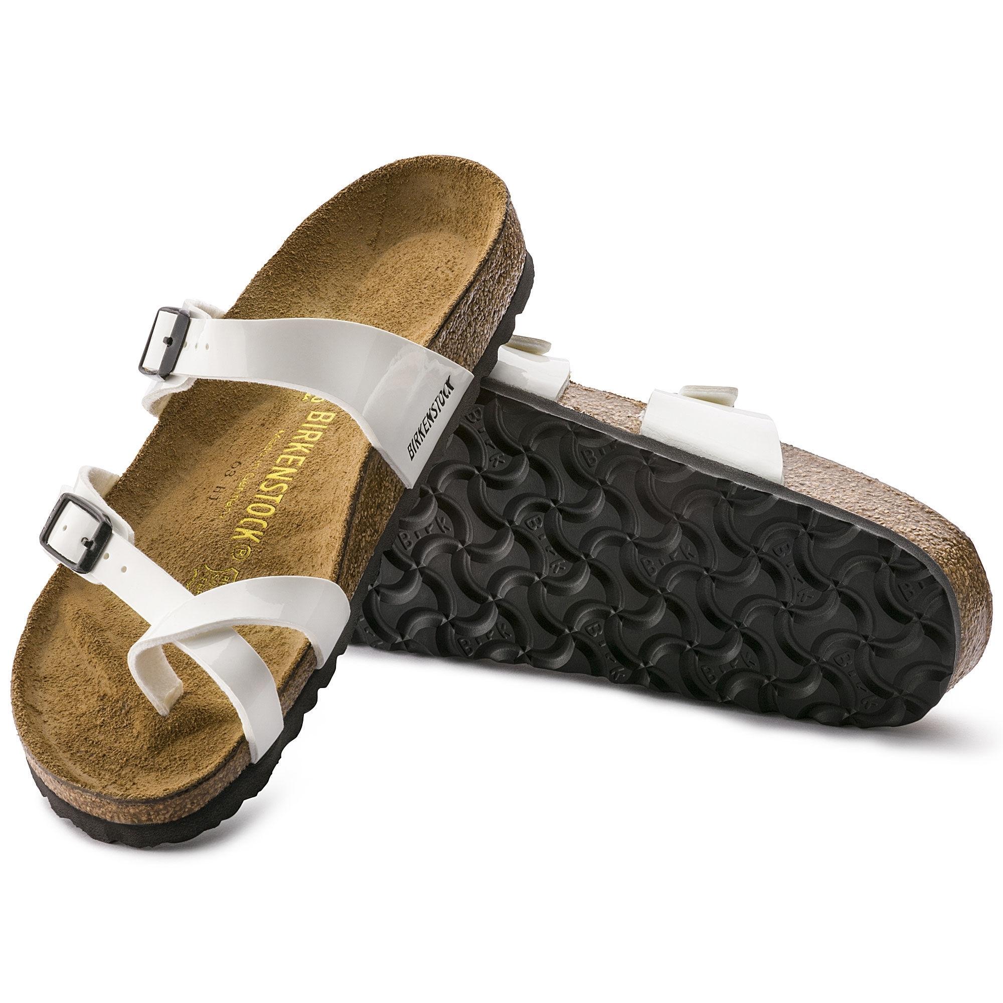 772d6d0fdedc Birkenstock MAYARI 71221 Ladies Cross Strap Sandals Patent White ...