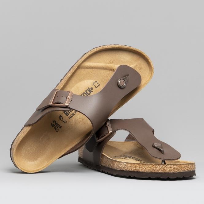 Birkenstock Men's Ramses Birko Flor Toe Post Sandal Black