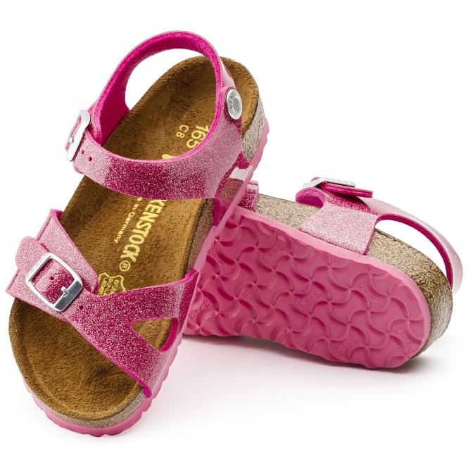 ec38fba00867 Birkenstock RIO 1003234 Kids Two Strap Sandals Galaxy Bright Rose ...