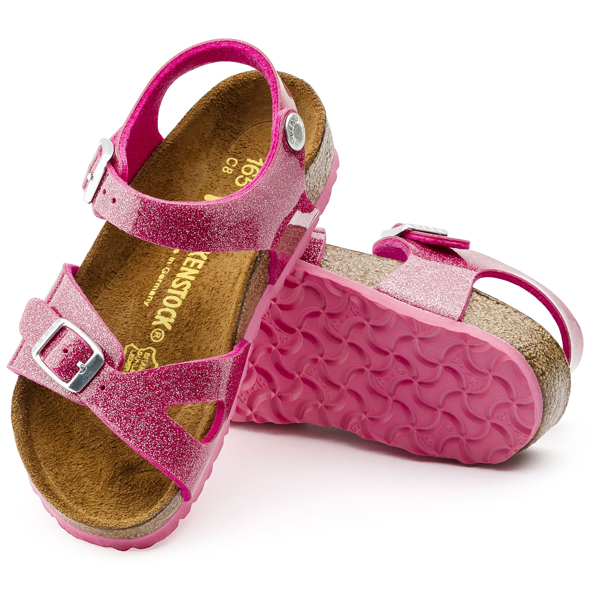 63988349be65 Birkenstock RIO 1003234 Kids Two Strap Sandals Galaxy Bright Rose ...