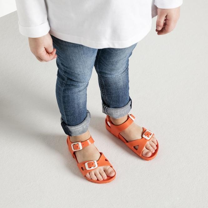 0147334fbe5 Birkenstock RIO 1003537 Kids Two Strap Sandals Coral