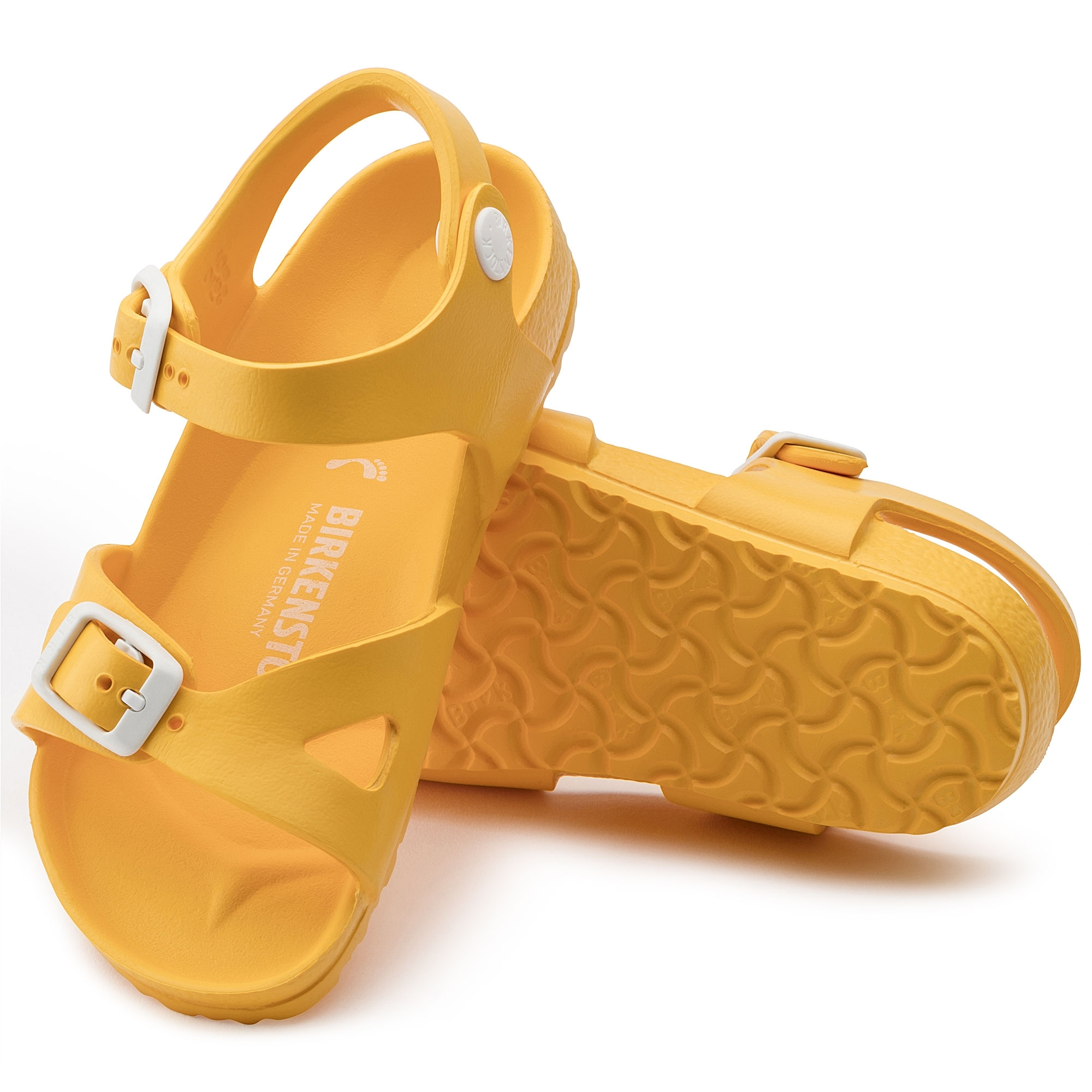9bdf464087da Birkenstock RIO 1003538 Kids Two Strap Sandals Scuba Yellow