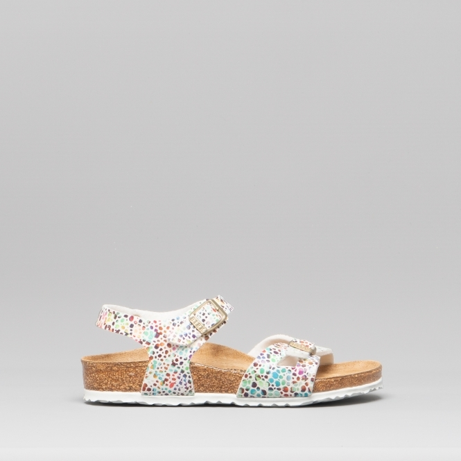 d2529dc7e131 Birkenstock RIO 1009451 (Reg) Kids Two Strap Sandals White