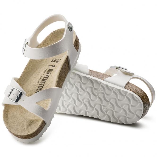 e5ca7833a1e4 Birkenstock RIO 31731 Ladies Two Strap Sandals White