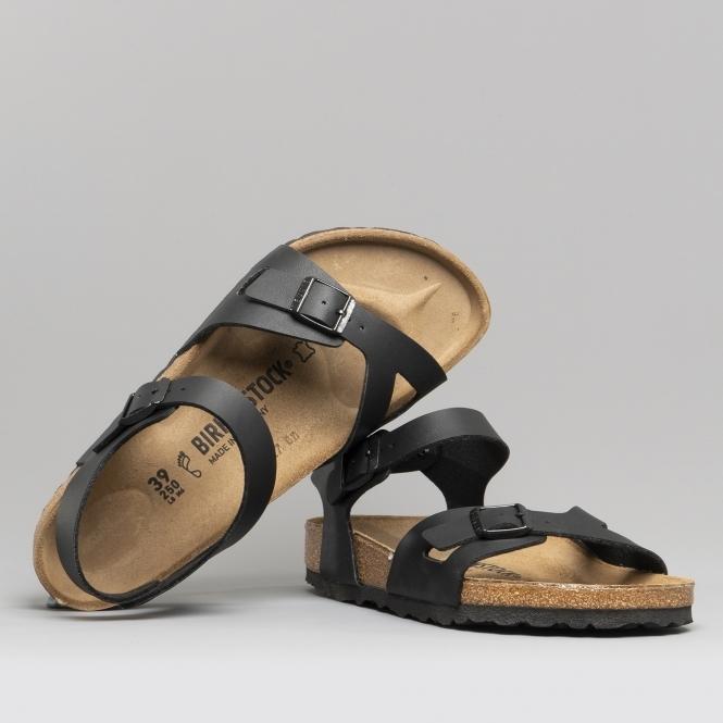 6fc22b0b90ac Birkenstock RIO 31791 Ladies Two Strap Sandals Black | Shuperb