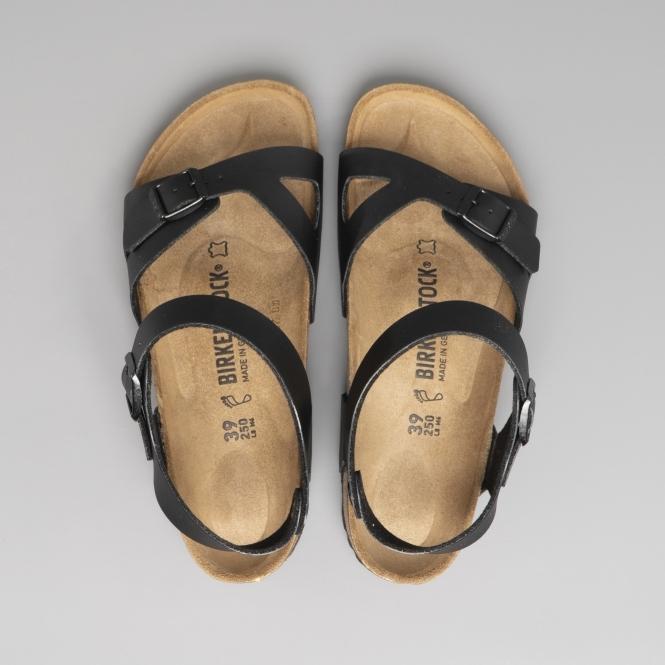 29a7050118de Birkenstock RIO 31791 (Reg) Ladies Birko-Flor Two Strap Sandals Black