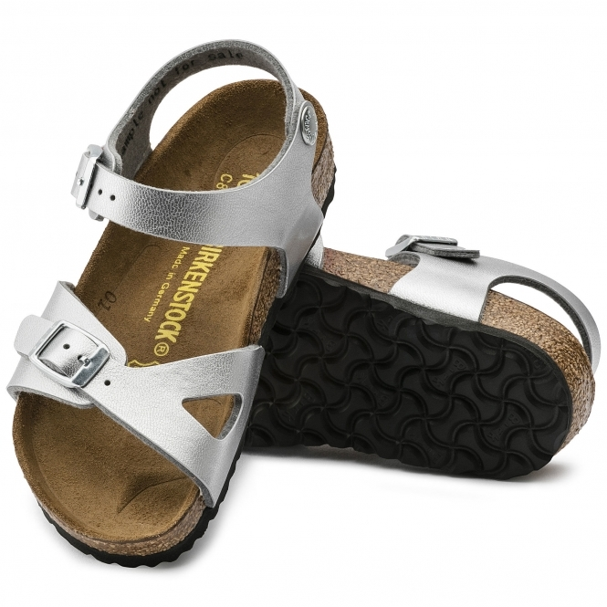 2ba6e2c66be2d RIO 731483 (Nar) Kids Birko-Flor Two Strap Sandals Silver