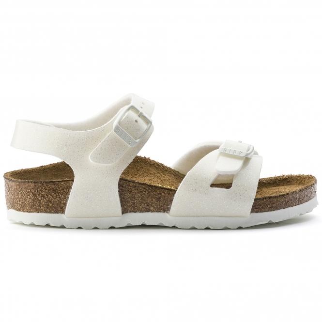 fc6e748196e7 Birkenstock RIO GALAXY 831693 (Nar) Kids Birko-Flor Two Strap Sandals White