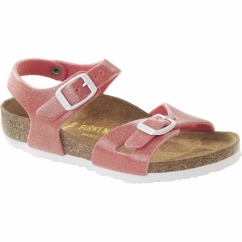 RIO GALAXY Kids Dual Buckle Sandals Pink