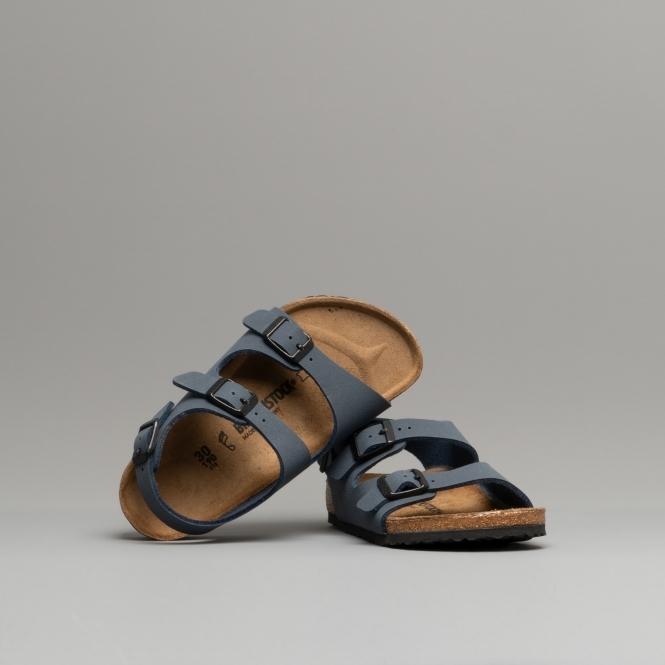 c4a307f775e Birkenstock ROMA 1007940 Kids Two Strap Sandals Navy