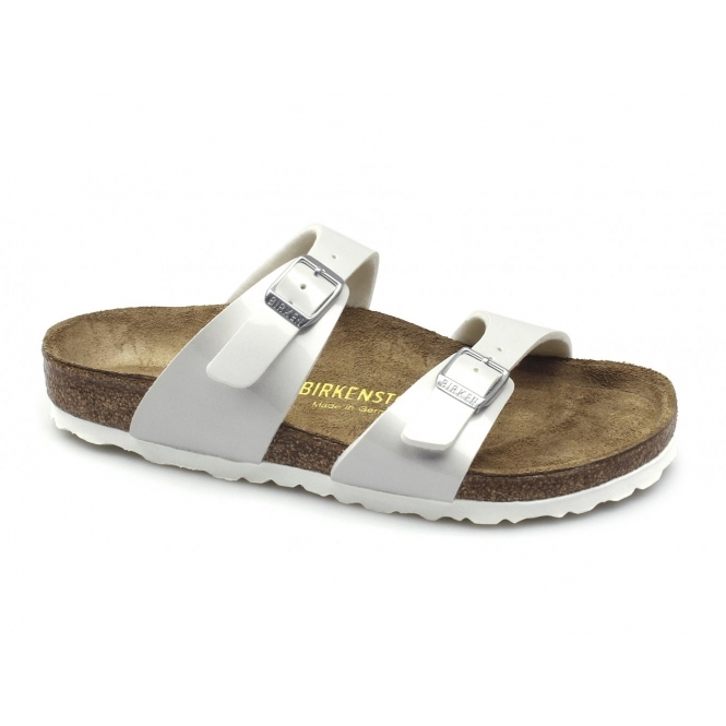 Birkenstock SYDNEY Ladies Buckle Sandals Pearly White
