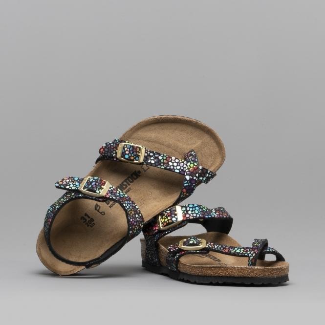 c6a138902e3e Birkenstock TAORMINA 1009457 Kids Microfibre Cross Strap Sandals ...