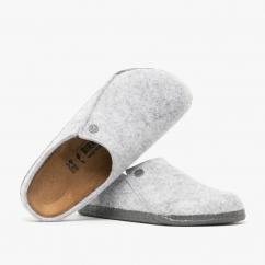 Birkenstock ZERMATT 1014934 (Nar) Ladies Felt Clog Slippers Light Grey