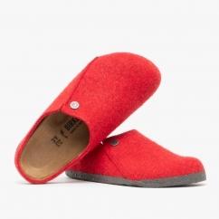 Birkenstock ZERMATT 1014936 (Nar) Ladies Felt Clog Slippers Red
