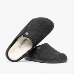 Birkenstock ZERMATT 1015084 (Nar) Ladies Felt Clog Slippers Anthracite