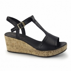 BLAKELY DURANTE Ladies Wedge Sandals Black