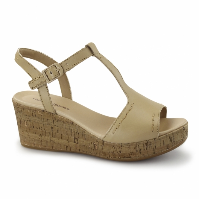 Hush Puppies BLAKELY DURANTE Ladies Wedge Sandals Tan