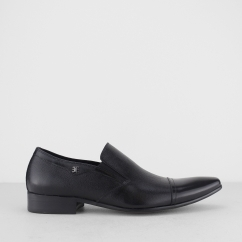 Blakeseys BARDOLPH Mens Leather Toe Cap Slip On Shoes Black | Shuperb