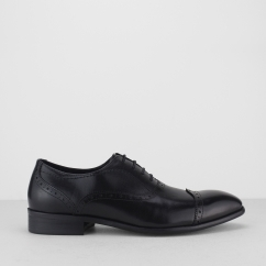 CONSTABLE Mens Leather Toe Cap Oxford Brogues Black