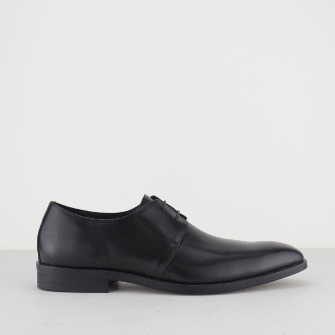 Blakeseys EXETER Mens Plain Chisel Toe Derby Shoes Black