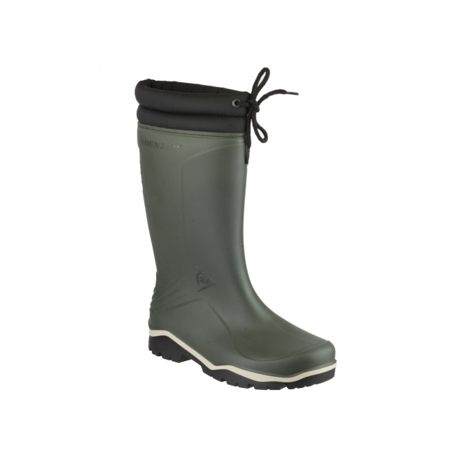 Dunlop BLIZZARD Unisex Warm Lined Wellington Boots Green
