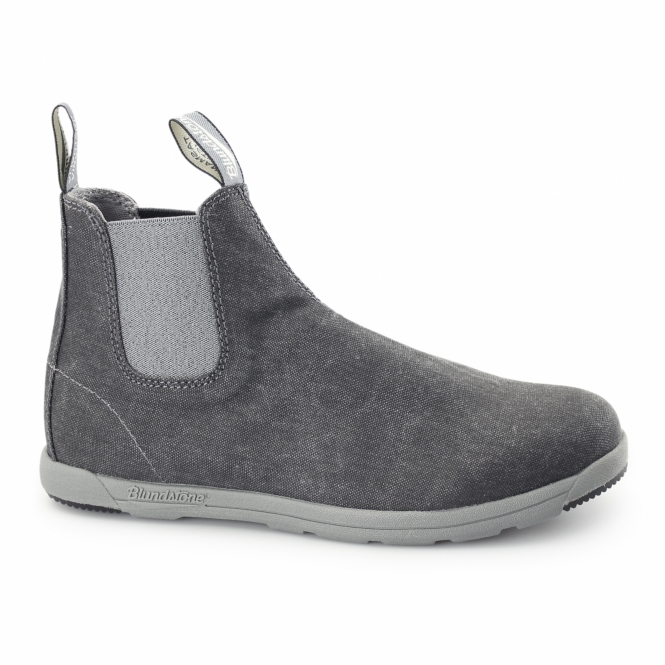 Blundstone 1420 Mens Canvas Chelsea Boots Black Wash