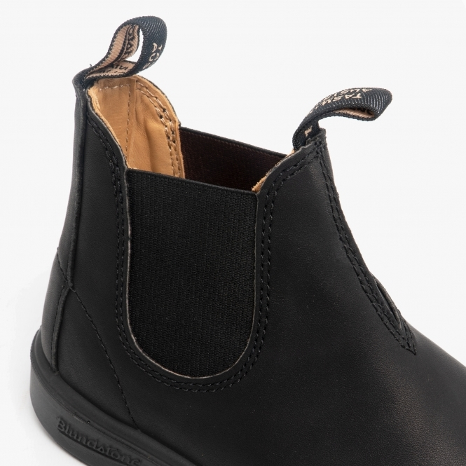 Durable Leather Chelsea Boots Black