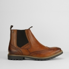 Base London BOSWORTH Mens Leather Chelsea Boots Brown | Shuperb