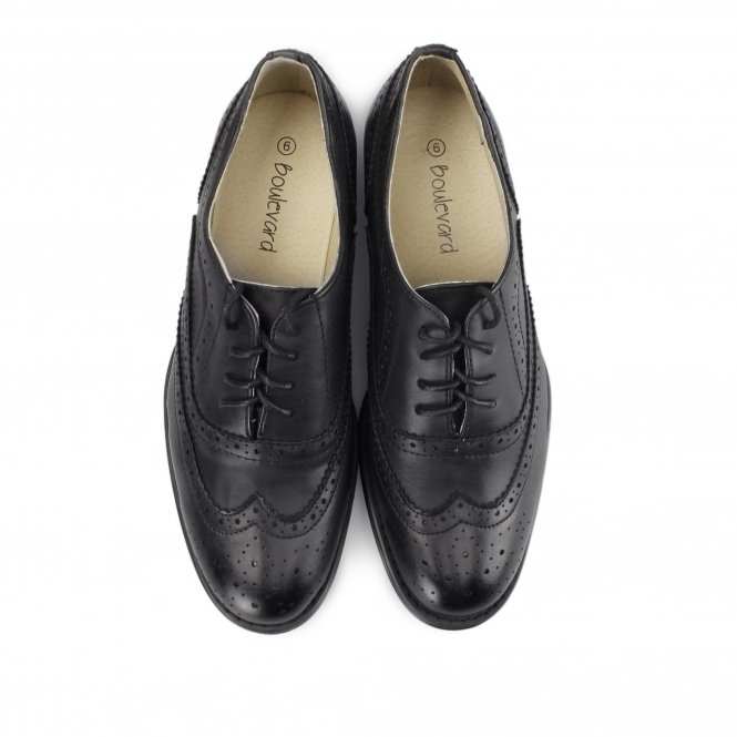 f1e56ebda0c0a Boulevard Womens Faux Leather Lace-Up Flats Shoes