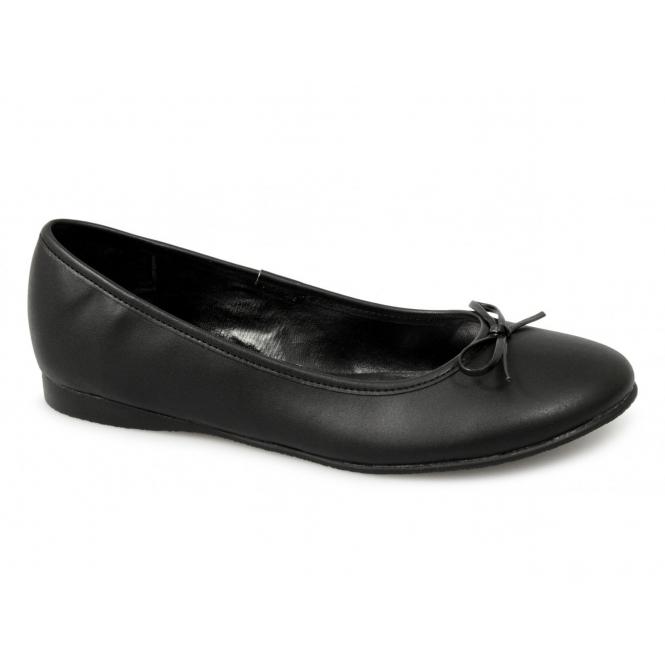 Boulevard Womens Ladies Ballerina Flat Shoes Black  550c3a07d2