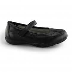 JANIE Girls Touch Fasten Mary Jane Shoes Black
