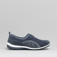0592904cd8d2 KIMBERLEY Ladies Centre Zip Mesh Leisure Shoes Navy