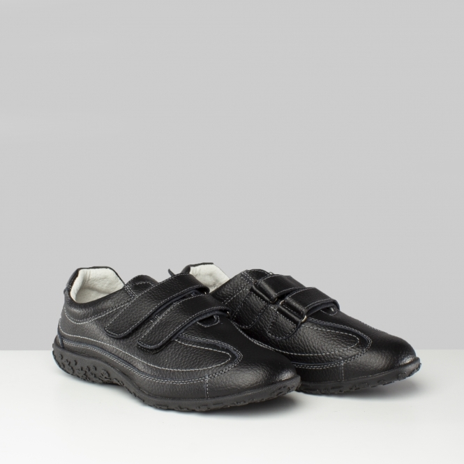 sports shoes available 100% top quality Boulevard Womens Ladies Leather Wide Fit Shoes Black | Buy At Shuperb