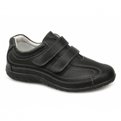 SABRINA Ladies Extra Wide EEE Fit Velcro Shoes Black