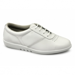 TREBLE Ladies Leather Leisure Oxford Shoes White
