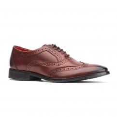 Base London BRAMBLE Mens Leather Shoes Rosewood