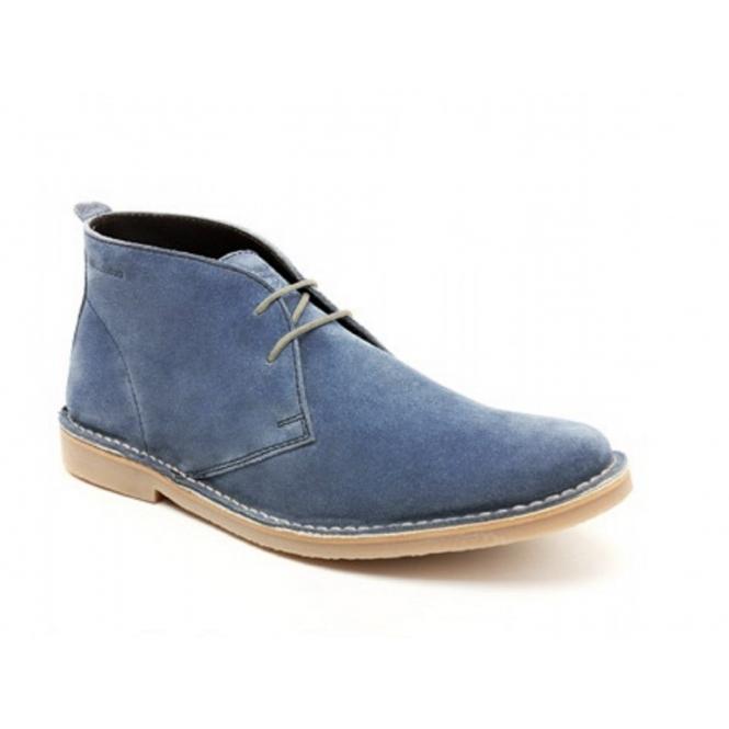 Base London BRANCH Mens Suede Desert Boots Denim Blue