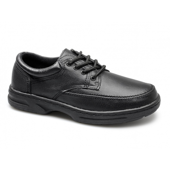 Dr Keller BRIAN Mens Leather Lace Up Wide Fit Shoes Black