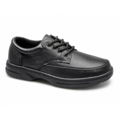 BRIAN Mens Leather Lace Up Wide Fit Shoes Black