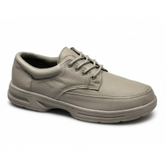 BRIAN Mens Leather Lace Up Wide Fit Shoes Taupe