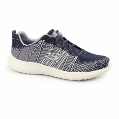 BURST - ELLIPSE Ladies Lace Up Trainers Navy/Multi