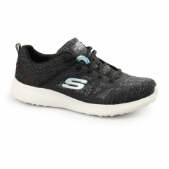 BURST Ladies Sports Lace Up Trainers Black/White