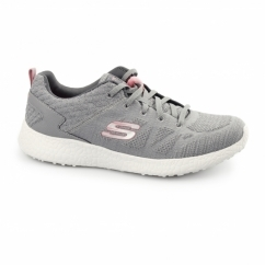 BURST Ladies Sports Lace Up Trainers Grey