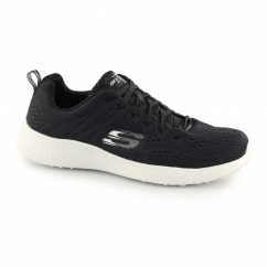 BURST SECOND WIND Mens Sports Trainers Black/White