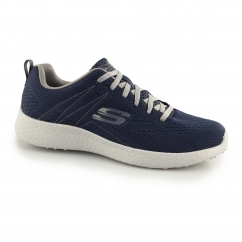 BURST SECOND WIND Mens Sports Trainers Navy/Grey