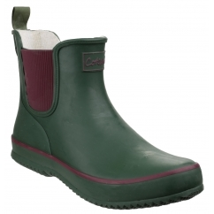 BUSHY Ladies Waterproof Rubber Ankle Boots Green