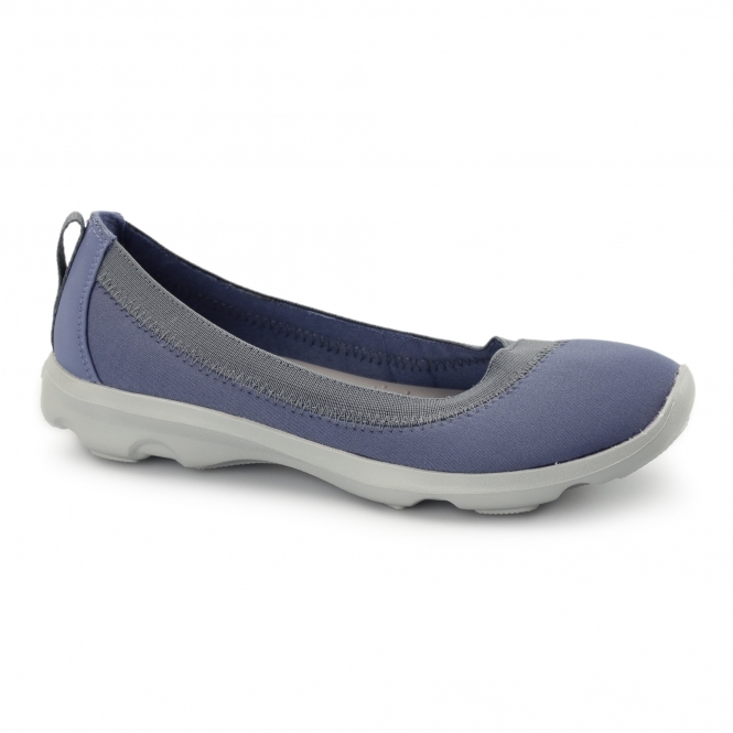 Crocs BUSY DAY STRETCH FLAT Ladies Walking Trainers Bijou Blue